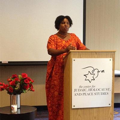 E. Mukeshimana, Rwandan Genocide Survivor, '17