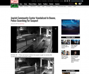 Jewish Community Center Vandalized In Boone, Police Searching For Suspect