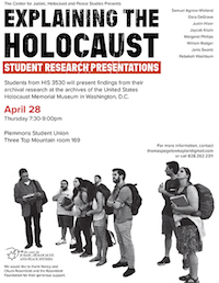 Explaining the Holocaust: Student Research Presentations