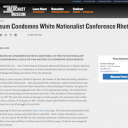 United States Holocaust Memorial Museum article on white nationalist conference rhetoric