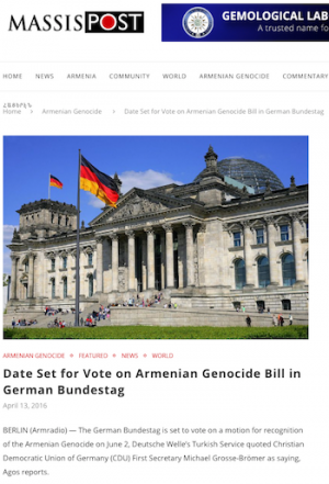 Story from Massispost with image of Reichstag Building in Berlin