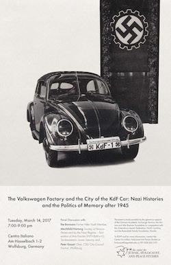 politics of memory volkswagon poster